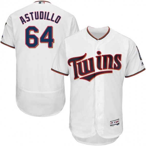 25572364fb0 Minnesota Twins Willians Astudillo Official White Authentic Youth Majestic Flex  Base Home Collection Player MLB Jersey